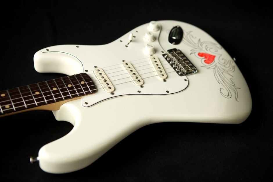 custom guitar finish stratocaster tattoo photo